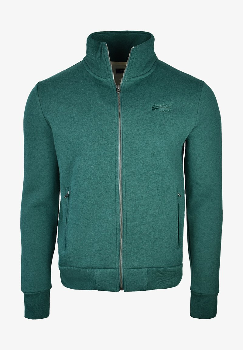 Superdry - Sweater met rits - forest green