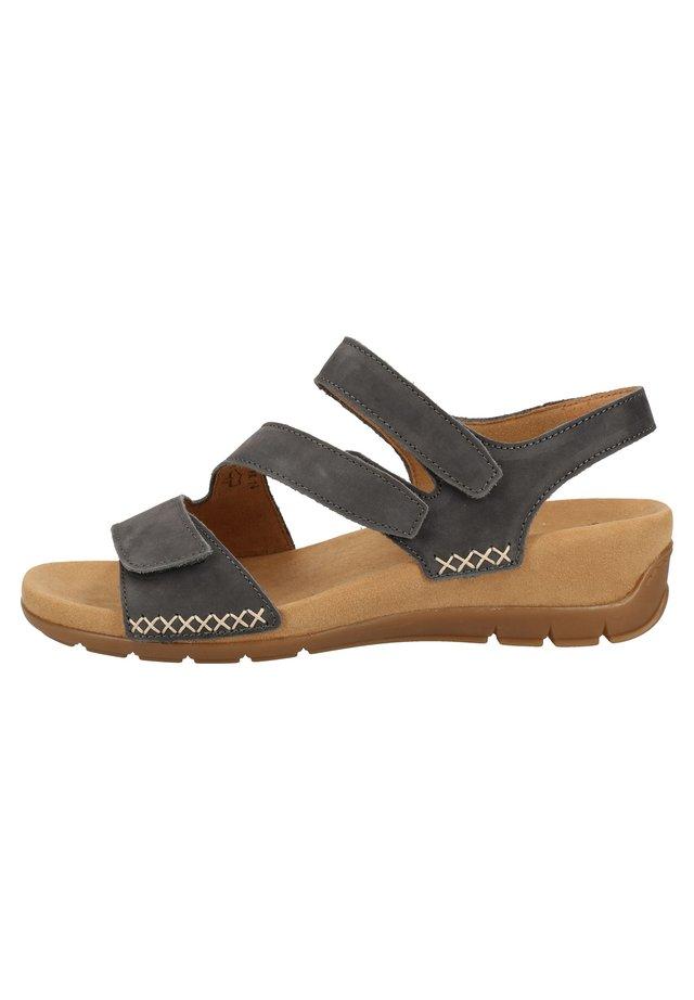 SANDALEN - Sandalen met sleehak - blue