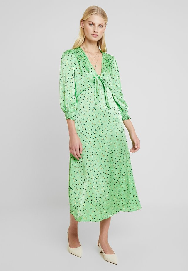 LOTTE DRESS - Skjortekjole - green/blue