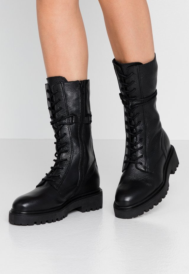 Lace-up boots - black