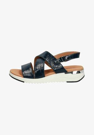 WOMS  - Wedge sandals - marine naplak