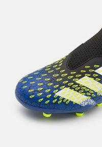adidas Performance - PREDATOR FREAK .3 LL FG UNISEX - Moulded stud football boots - core black/footwear white/solar yellow - 5