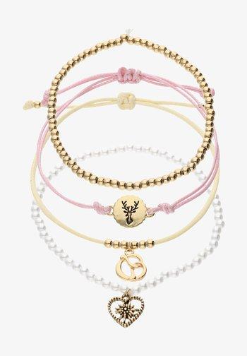 4 PACK - Bracelet - goldfarben