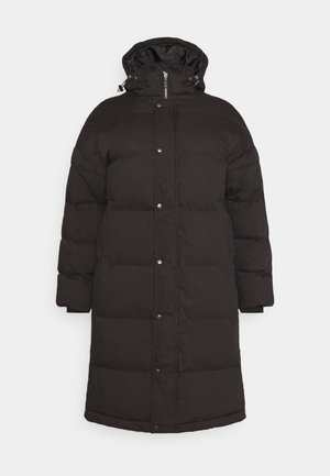 LONGLINE PADDED PUFFER - Winter coat - black