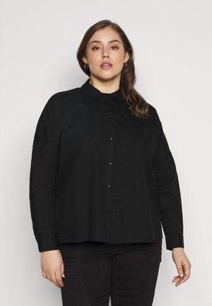 PCREMEY  - Button-down blouse - black