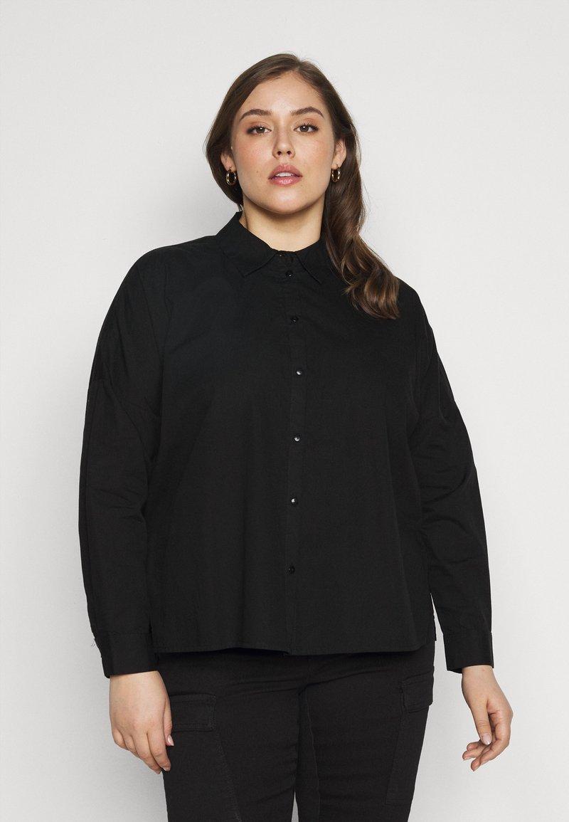 Pieces Curve - PCREMEY  - Button-down blouse - black