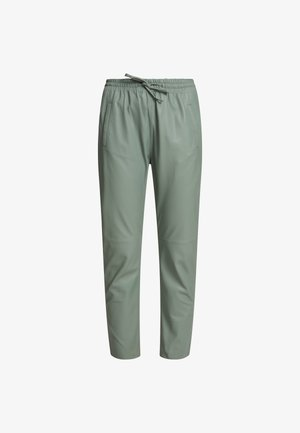 GIFT - Spodnie skórzane - celadon green
