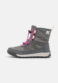Sorel - YOUTH WHITNEY II SHORT LACE - Talvisaappaat - quarry/grill - 0
