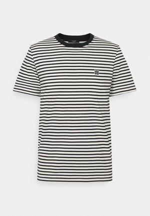 JPRBLASTUDIO TEE STRIPE - T-shirts print - egret/black