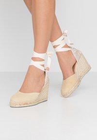 Castañer - CARINA  - High heeled sandals - natural - 0