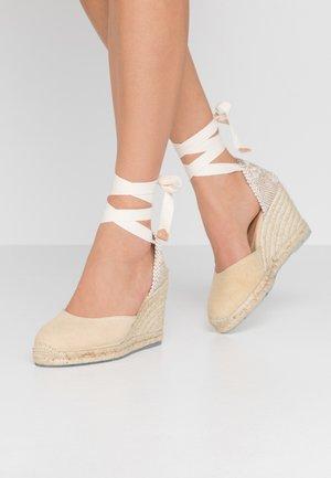 CARINA  - High heeled sandals - natural