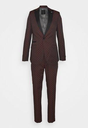 BELLEVUE SUIT SET - Kostym - burgundy