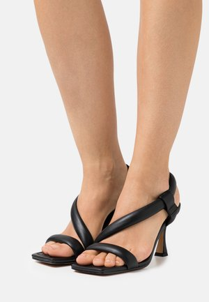 PUFFY HEELED - Sandals - black