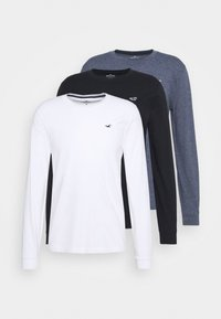 CREW 3 PACK - Long sleeved top - navy siro/white/black