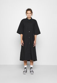 Monki - ELIN DRESS - Skjortekjole - black dark - 0