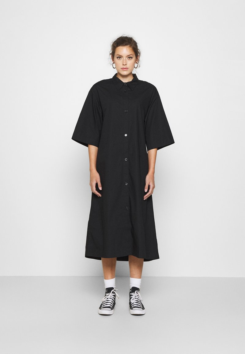 Monki - ELIN DRESS - Skjortekjole - black dark