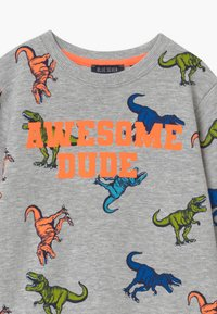Blue Seven - SMALL BOYS T-REX DINOSAUR - Sweatshirt - nebel - 2