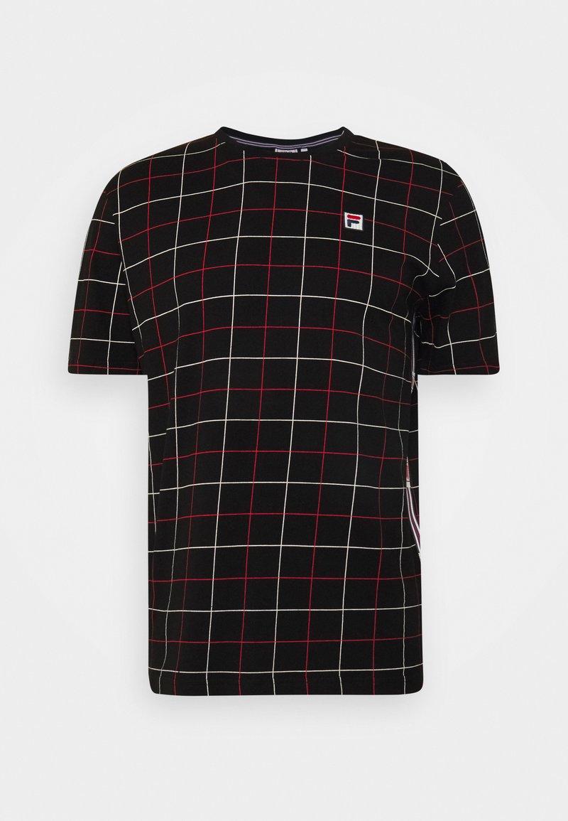 Fila - WING TEE - Camiseta estampada - black