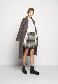 2nd Day - CHARITON CHECK - Mini skirt - black - 1