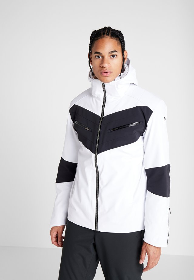 REBELS JACKET - Veste de ski - white/black