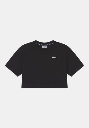 ANNA CROPPED - T-shirt imprimé - black