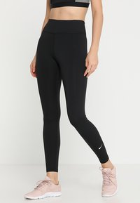 Nike Performance - ONE - Legginsy - black/white - 0