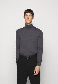J.LINDEBERG - LYD - Stickad tröja - dark grey melange - 0