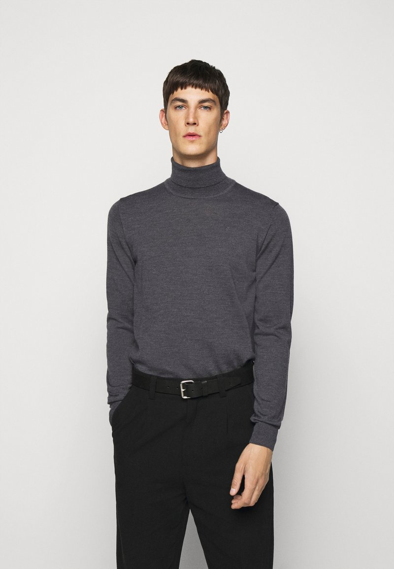 J.LINDEBERG - LYD - Stickad tröja - dark grey melange