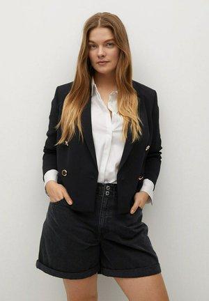 PAPERBAG - Shorts di jeans - black denim