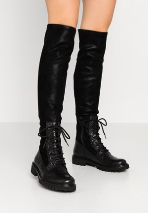 MARTA - Over-the-knee boots - dunde/navajo black