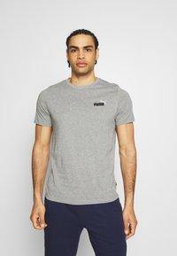 Puma - EMBROIDERY LOGO TEE - T-shirts basic - medium gray heather - 0