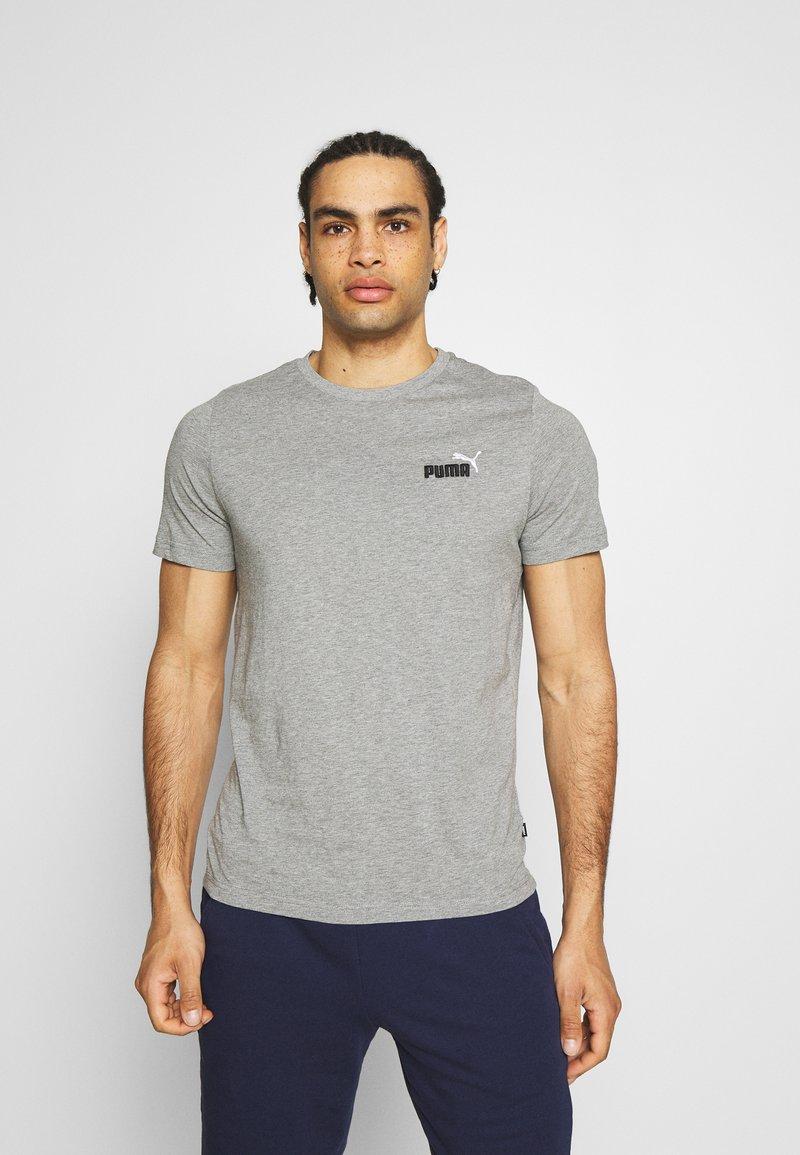 Puma - EMBROIDERY LOGO TEE - T-shirts basic - medium gray heather