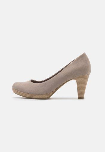 COURT SHOE - Platform heels - taupe