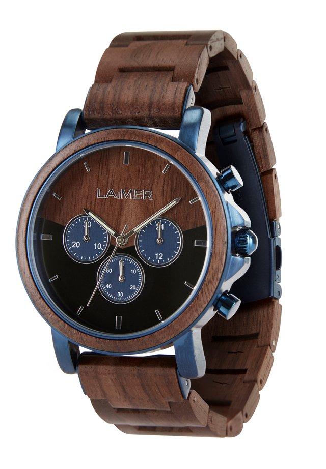 LAIMER QUARZ HOLZUHR - ANALOGE ARMBANDUHR IVO - Cronografo - brown