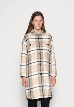 LONGHEMD - Classic coat - creme-grau