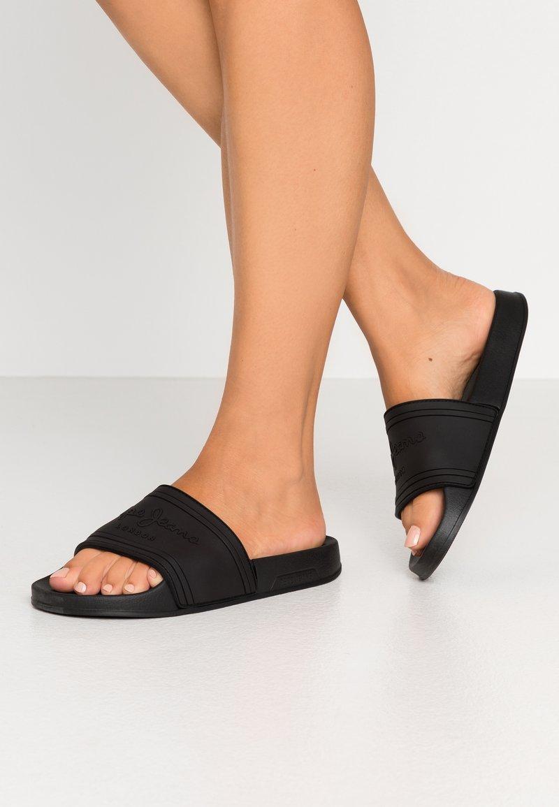 Pepe Jeans - SLIDER  - Mules - black