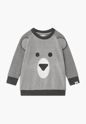 BEAR FACE - Sweater - dark grey/off-white