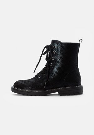 BOOTIES - Lace-up ankle boots - black
