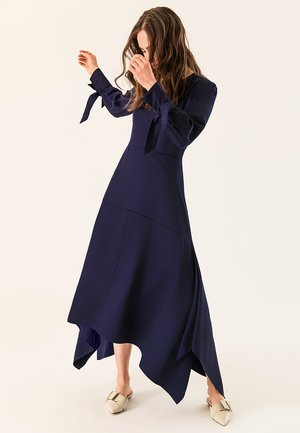 Vestido largo - winter true blue