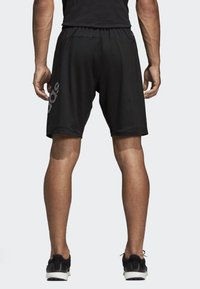 adidas Performance - 4KRFT Sport Graphic Badge of Sport Shorts - Krótkie spodenki sportowe - black - 1