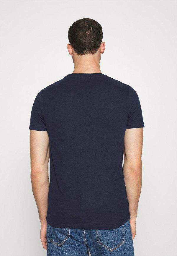 Superdry VINTAGE TEE - T-shirt basic - rich navy/granatowy Odzież Męska ORVL