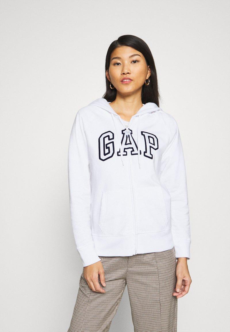 GAP - Zip-up hoodie - white