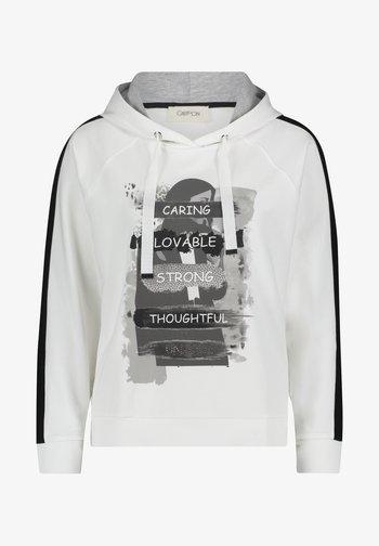 Hoodie - blanc/noir