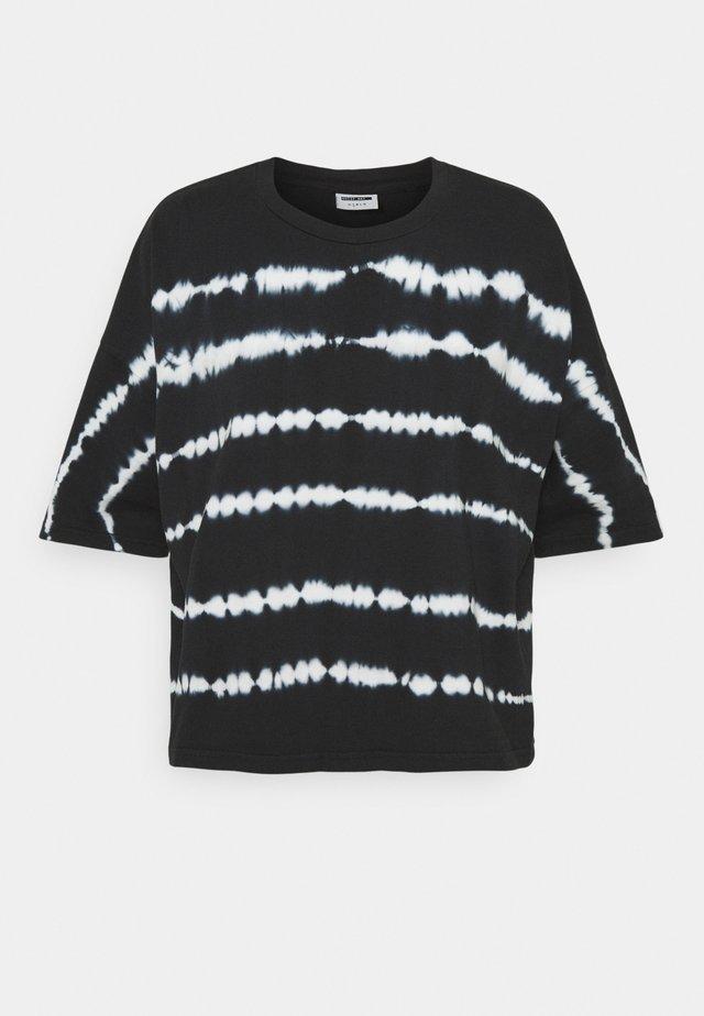 NMBUSTER TIE DYE - T-shirts print - black