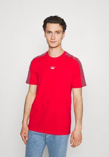 STRIPE UNISEX - T-shirt con stampa - vivid red