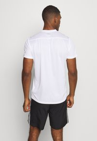 adidas Performance - RESPONSE AEROREADY RUNNING SHORT SLEEVE TEE - Triko s potiskem - white - 2