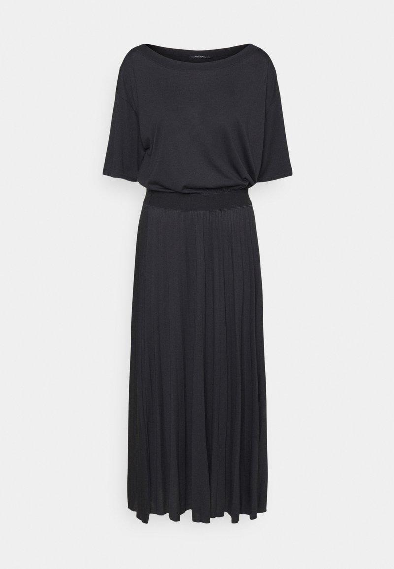 Marc O'Polo - DRESS PLISSEE - Jersey dress - dark blue