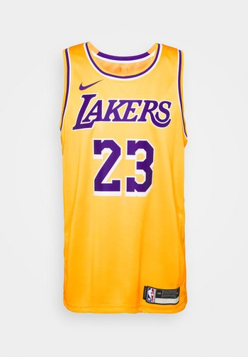 NBA LA LAKERS LEBRON JAMES SWINGMAN - Club wear - amarillo/field purple