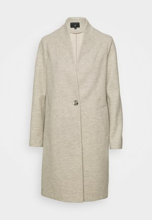COLLARLESS HERRINGBONE UNLINED COAT - Classic coat - light grey