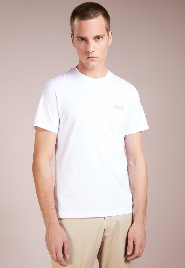 INTERNATIONAL SMALL LOGO TEE - Jednoduché triko - white